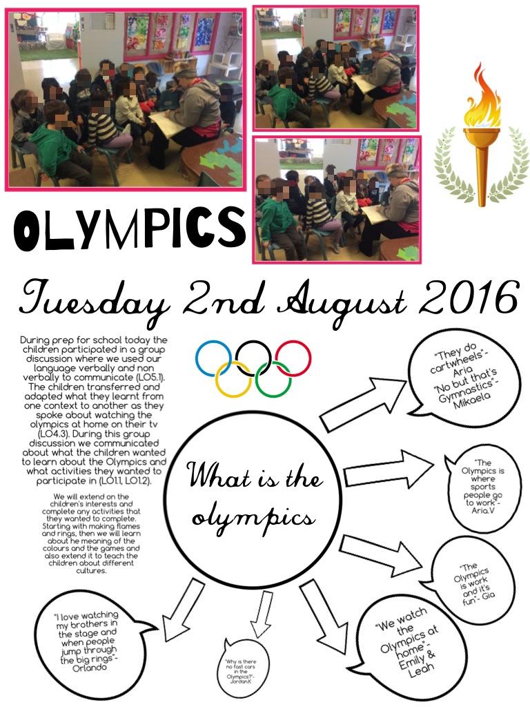 olympics prep for school aug
